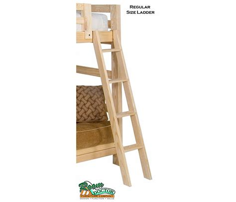 wooden bunk bed ladder basic wood bunk or loft bed ladders