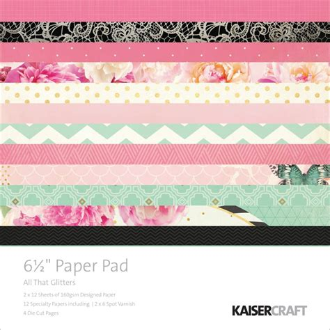 Kaiser Craft Paper - kaisercraft all that glitters collection 6 5 quot x6 5