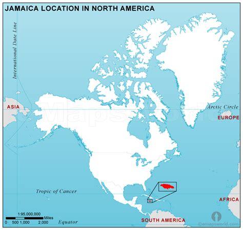 map of america showing jamaica jamaica location map in america jamaica location