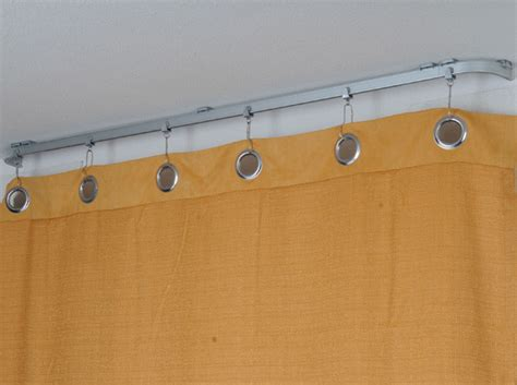 rv shower curtain track bendable shower curtain rod contemporary shower