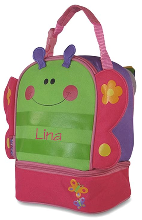 child butterfly lunch bag personalized