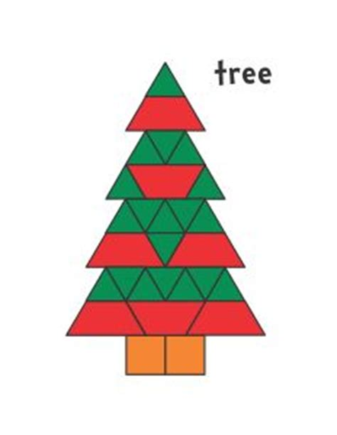 christmas tree pattern block template 1000 images about pattern blocks on pinterest pattern