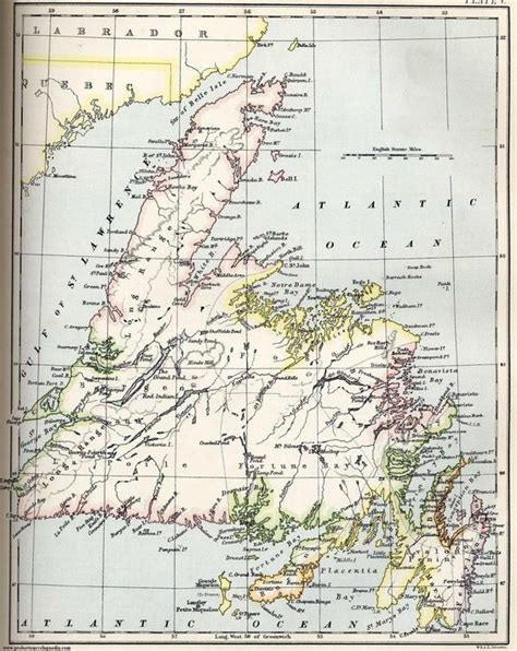 newfoundland map map of newfoundland 1884 maps the americas newfoundland and maps