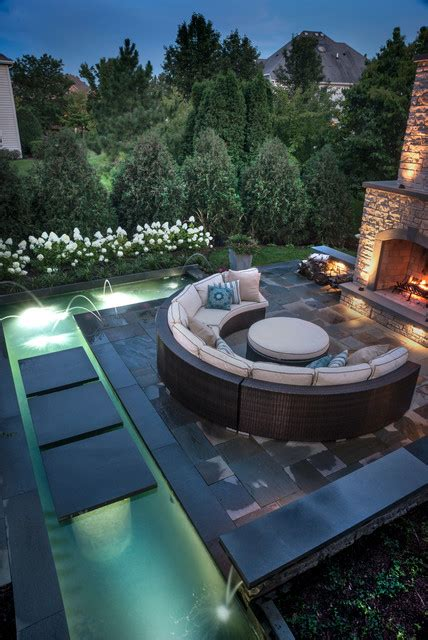 Patio Designs Naperville Naperville Il Water Feature With Koi Modern Patio