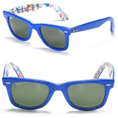 Sunglass Raybann Wayfarer Submay Map Print ban wayfarer nyc subway