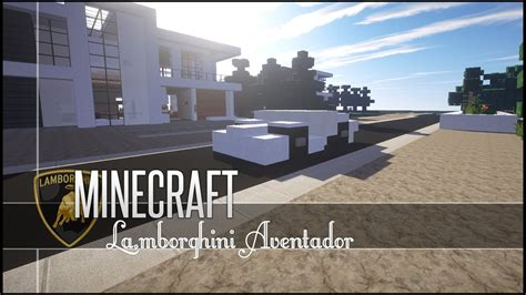 lamborghini minecraft minecraft vehicle tutorial lamborghini aventador youtube