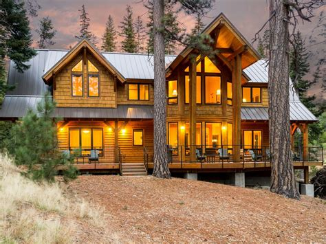 big lake cabin rental spectacular central oregon cabin spacious luxury cabin in a