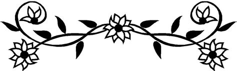flowers clipart black and white flowers border clipart black and white clipart panda