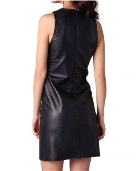 pattern leather dress sleeveless mini formal pattern leather dress