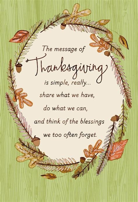 blessings fall wreath thanksgiving card greeting cards