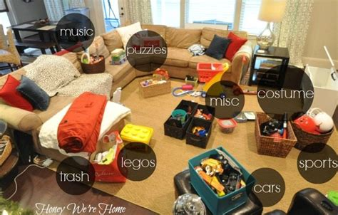 hide toys in living room organizing the toys honey we re home