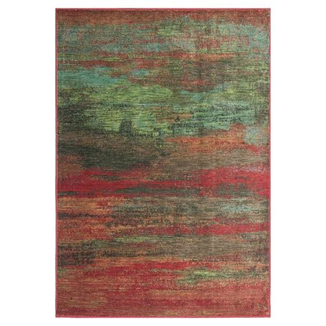 Water Rugs by Kas Rugs Water Reflections Green 2 Ft 3 In X 3 Ft 3