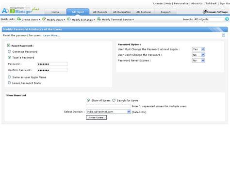 tool reset ad password windows active directory bulk user modification reset