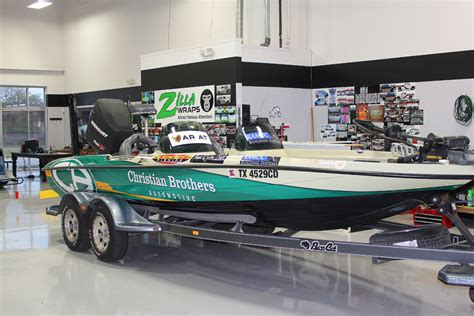 bass boat windshield graphics boat wraps dfw zilla wraps