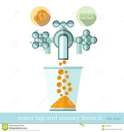 Mr Acrysion Water Based N11 Flat White Mr Hobby flat concept business icon gold coins flows from the water