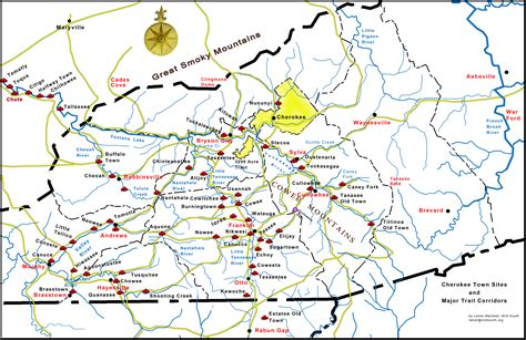 western carolina map of cities and towns south maps