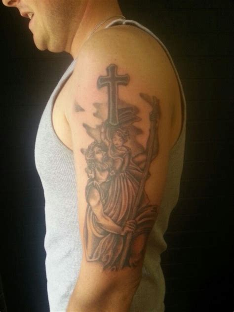 saint christopher tattoo st christopher tattoos st