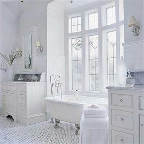 White Bath Design White On White Bathroom Ideas Modern House