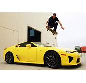 Lexus Fan Tony Hawk Uses Skateboard To Jump Over LFA Video