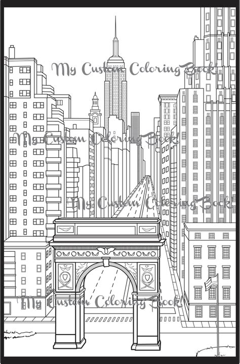 download new york city coloring page