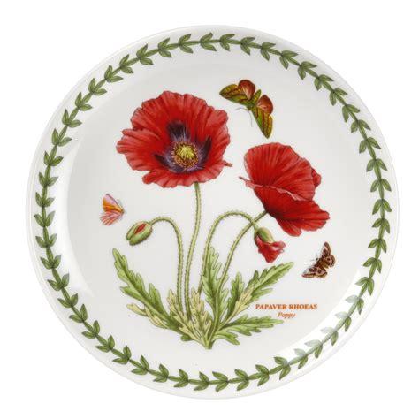 portmeirion botanic garden set of 4 poppy coupe plates