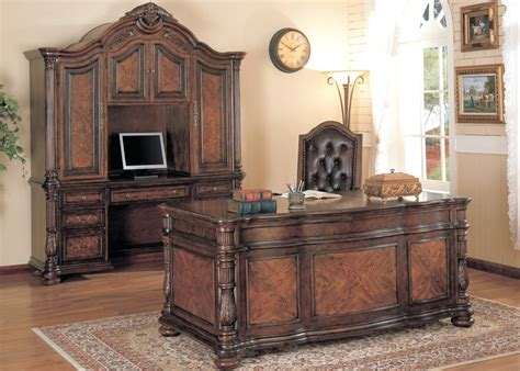 solid wood desk for sale union hill double pedestal executive desk with leather