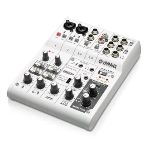 yamaha ag06 6 channel mixer with usb audio interface