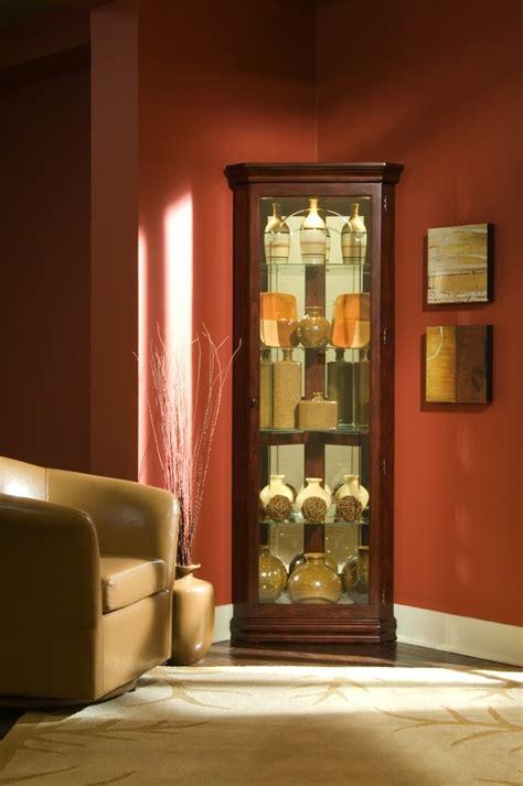 cherry corner curio cabinet cherry corner curio from pulaski 20205