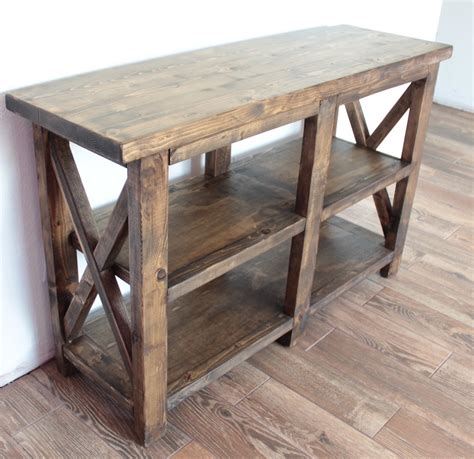 ana white rustic entryway table diy projects