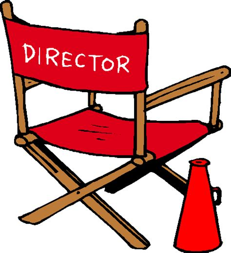 movie director chair clip art director