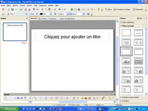comment faire un graphique sur libreoffice impress creer un diaporama avec open office impress coll 232 ge