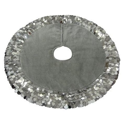 silver christmas tree skirt pin the stocking on the