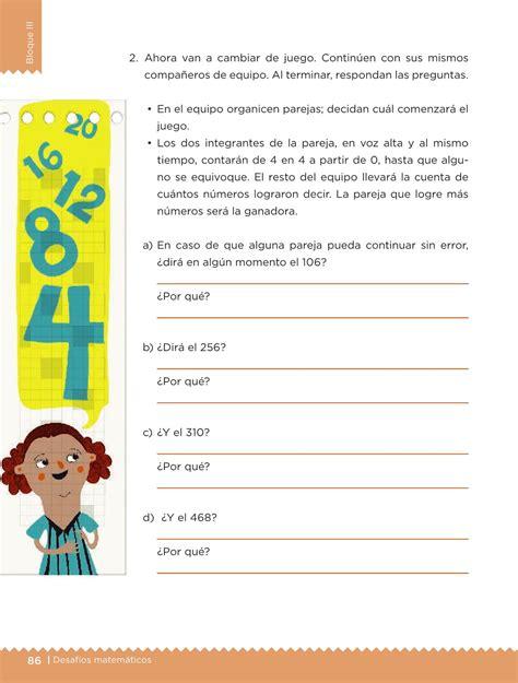 el libro de desafios matematicos de quinto grado contestado desaf 237 os matem 225 ticos libro para el alumno sexto grado 2016