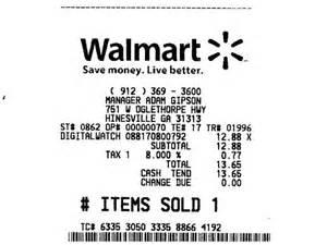 Walmart receipt coastal courier coastalcourier com news and