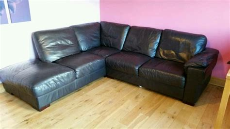 Real Leather Couches For Sale by Genuine Leather Corner Sofa For Sale In Ballina Tipperary