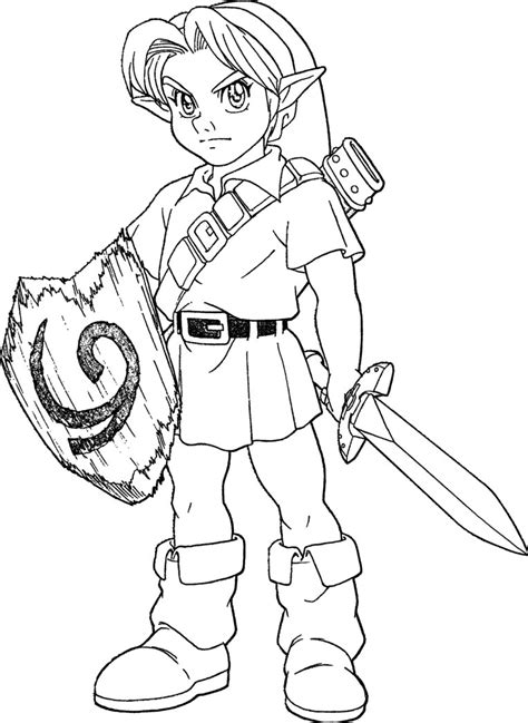 Young Link Ocarina Of Time Lineart By Skylight1989 On Coloring Page Of Legend Of Ocarina Of Time