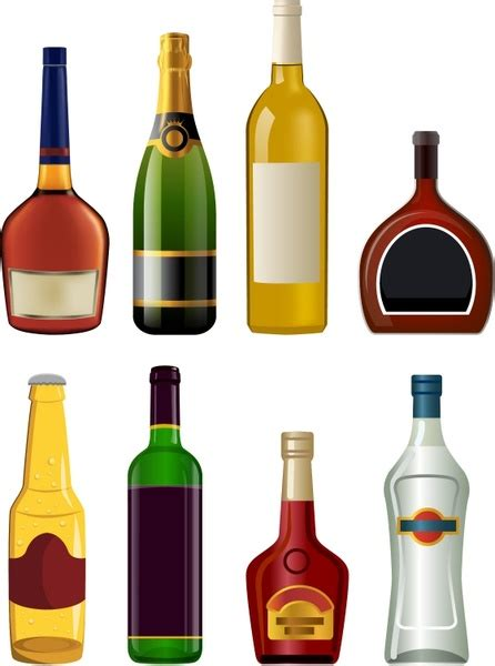 cartoon alcohol bottle chagne bottle vector free vector download 1 253 free