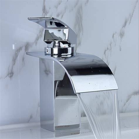 Waterfall Sink Faucet by Waterfall Bathroom Sink Faucet 8061