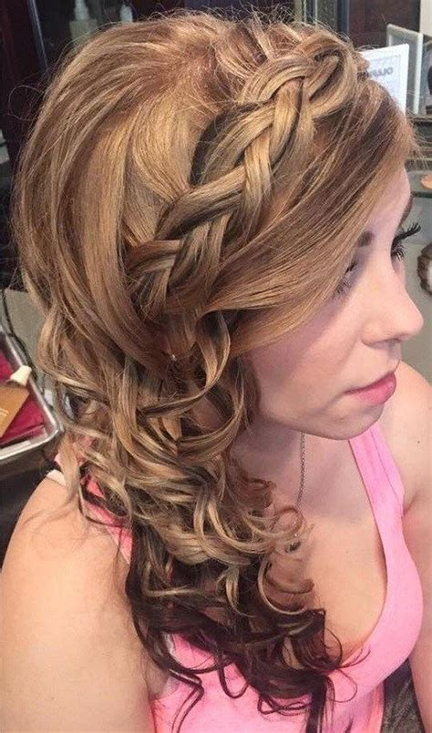 formal hairstyles side 25 best ideas about side curly hairstyles on pinterest