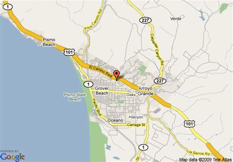 map of pismo california map of inn express grover pismo area