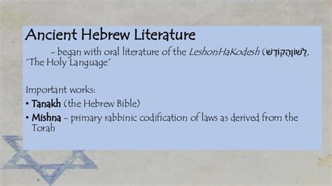 themes in oral literature israel and hebrew literature
