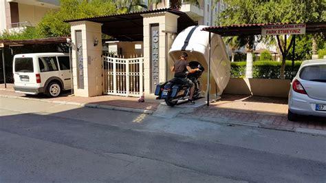 portatif motorsiklet garaji motokabin youtube