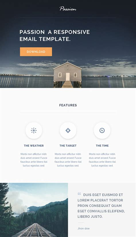 awesome email templates 20 free business newsletter templates to hongkiat