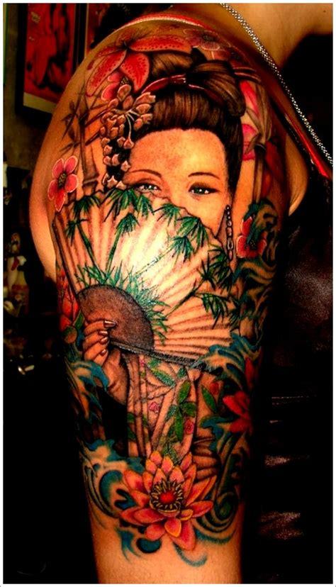 geisha realistic tattoo 45 traditional geisha tattoo that inspire your artistic side