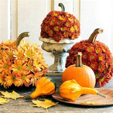 15 autumn decoration ideas with flowers and fruits for