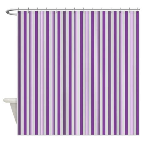 purple and grey shower curtain purple and grey stripes pattern shower curtain by