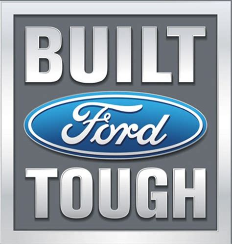 ford commercial logo licensed ford built tough f150 f250 f350 4x4 truck logo