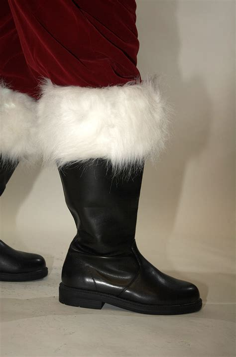 professional wide top santa claus boot