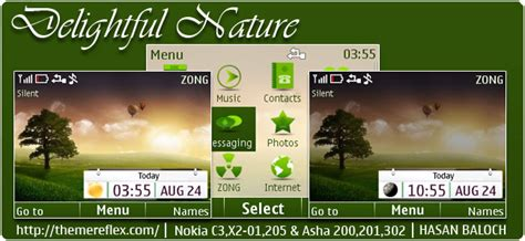 nokia c2 nature themes nature theme for nokia c3 themereflex