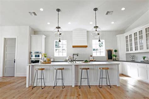 contemporary white kitchen  subway tile backsplash hgtv